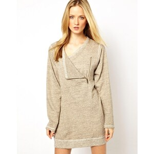 Selected Debu Sweater Dress with Asymmetric Zip