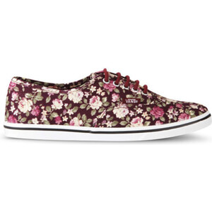 Vans Women's Authentic Lo Pro Floral Trainers - Tawny