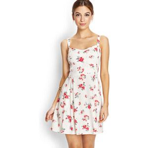 FOREVER21 Gesmoktes Kleid mit Blumenprint