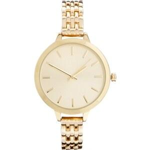 ASOS - Boyfriend-Armbanduhr mit großem Zifferblatt - Gold
