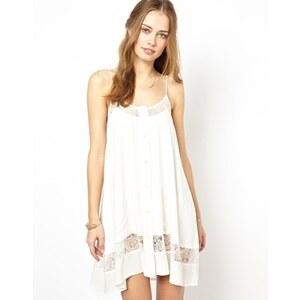 Jarlo - Alex - Camisole-Kleid mit Spitzeneinsätzen - Weiß 37,14 €