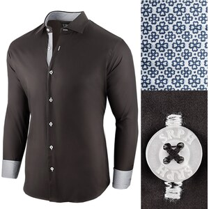 ad136205899b Seraph Čierna bavlnená pánska košeľa Essential Life - Glami.sk