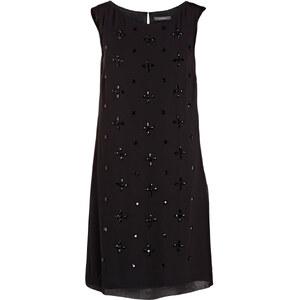 ESPRIT Kleid mit Schmucksteinbesatz schwarz