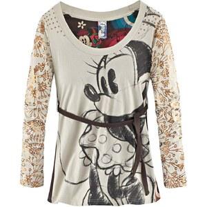 DESIGUAL Langarmshirt, MinnieMouseprint, Retroprint, Sternchenapplikation