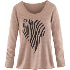 MISS GOODLIFE Pullover, Herz, Zebramuster, Wolle