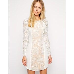 Stylestalker - Lana - Kleid mit Spitzenbahn - Weiß