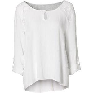 RAINBOW Tunika langarm in weiß (Rundhals) für Damen von bonprix