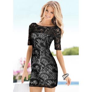 Kleid/Sommerkleid halber Arm in schwarz von bonprix