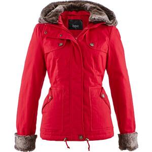 bpc bonprix collection Jacke mit Fellimitat-Einsätzen in rot für Damen von bonprix