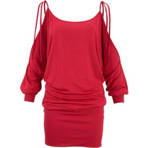 BODYFLIRT boutique Kleid 3/4 Arm figurumspielend in rot von bonprix