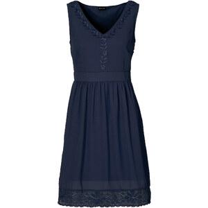 BODYFLIRT Kleid in blau (V-Ausschnitt) von bonprix