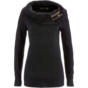 bpc selection Rollkragenpullover langarm in schwarz für Damen von bonprix