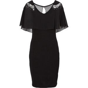 BODYFLIRT Shirtkleid/Sommerkleid ohne Ärmel figurbetont in schwarz (V-Ausschnitt) von bonprix