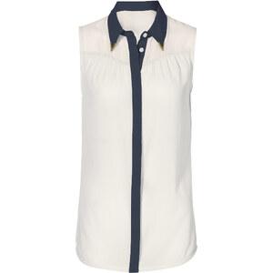 BODYFLIRT Bluse ohne Arm in weiß von bonprix