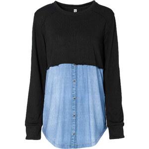 RAINBOW Sweatshirt mit Einsatz in schwarz für Damen von bonprix