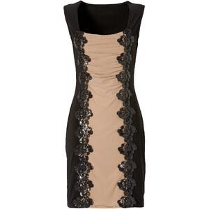 BODYFLIRT Shirtkleid ohne Ärmel in schwarz (Carré-Ausschnitt) von bonprix