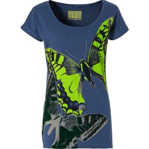 RAINBOW Shirt kurzer Arm in blau (Rundhals) für Damen von bonprix