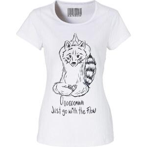 RAINBOW T-Shirt kurzer Arm figurbetont in weiß (Rundhals) für Damen von bonprix