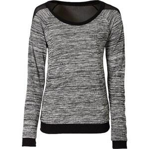 RAINBOW Pullover langarm figurbetont in grau (Rundhals) für Damen von bonprix
