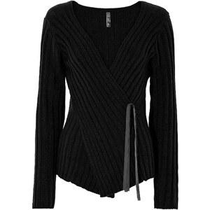 BODYFLIRT boutique Pullover langarm figurbetont in schwarz für Damen von bonprix
