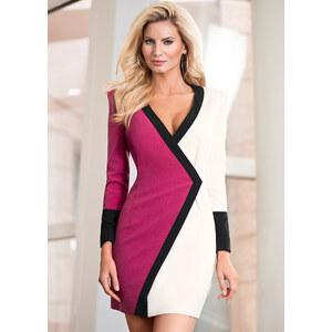 Kleid langarm in rosa von bonprix