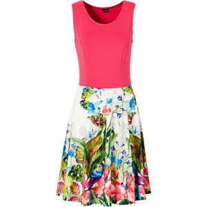BODYFLIRT Shirtkleid ohne Ärmel figurbetont in pink (Rundhals) von bonprix