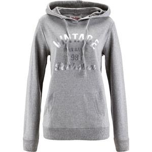John Baner JEANSWEAR Sweatshirt figurbetont in grau für Damen von bonprix