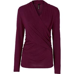 BODYFLIRT boutique Shirt langarm in lila für Damen von bonprix