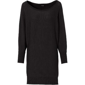 BODYFLIRT Pullover figurbetont in schwarz (Rundhals) für Damen von bonprix