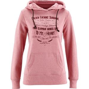 John Baner JEANSWEAR Sweatshirt, Langarm in rosa für Damen von bonprix