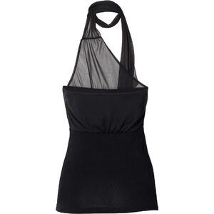 RAINBOW Schaltop ohne Ärmel figurbetont in schwarz für Damen von bonprix