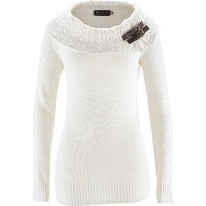 bpc selection Rollkragenpullover langarm in weiß für Damen von bonprix