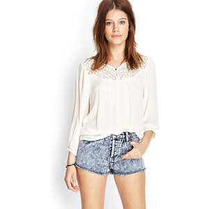 FOREVER21 Jeans-Shorts in Acid-Waschung