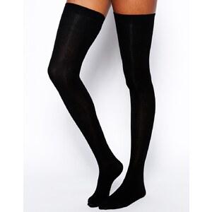 ASOS - Overknee-Socken - Schwarz