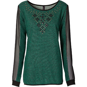 RAINBOW Sweatshirt in grün für Damen von bonprix