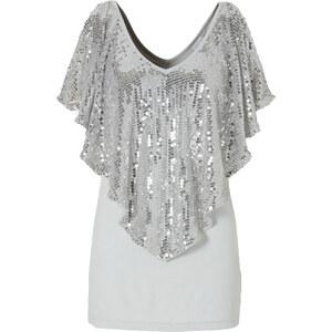 BODYFLIRT boutique Shirt halber Arm in silber für Damen von bonprix