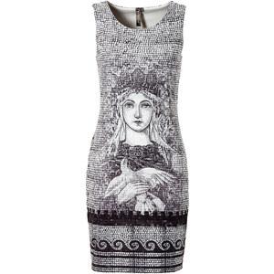 Kurzes Kleid ohne Ärmel in schwarz von bonprix