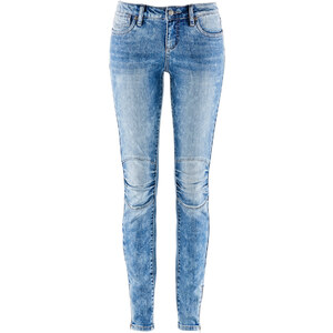 John Baner JEANSWEAR Stretch-Biker-Jeans, SKINNY, Normal in blau für Damen von bonprix