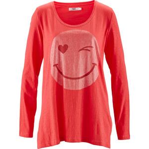 bpc bonprix collection Slub-Garn-Shirt, Langarm in rot für Damen von bonprix
