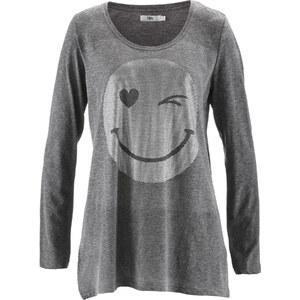 bpc bonprix collection Langarm-Slub-Garn-Shirt in grau für Damen von bonprix