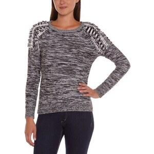 Vero Moda Damen Sweater CLEVELAND LS FRILL BLOUSE, Rundkragen ,Uni