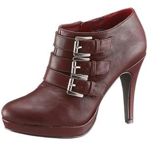 Laura Scott High Heel Ankle Boots mit trendigen Zierschnallen