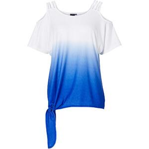 BODYFLIRT Shirt kurzer Arm in blau (Rundhals) für Damen von bonprix
