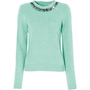 BODYFLIRT Pullover langarm in grün (Rundhals) für Damen von bonprix