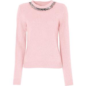 BODYFLIRT Pullover langarm in rosa (Rundhals) für Damen von bonprix