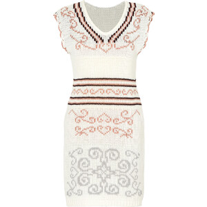 RAINBOW Strickkleid/Sommerkleid in weiß von bonprix