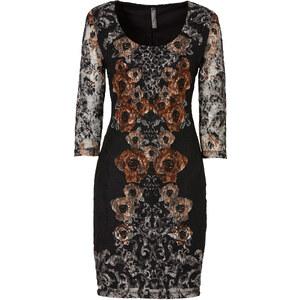 BODYFLIRT boutique Kleid 3/4 Arm in braun von bonprix