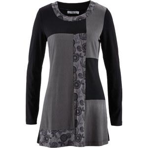 bpc bonprix collection Longshirt langarm figurbetont in grau (Rundhals) für Damen von bonprix