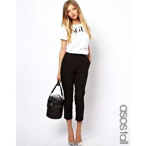 ASOS TALL - Kurze Hose mit klarer Taille - Schwarz