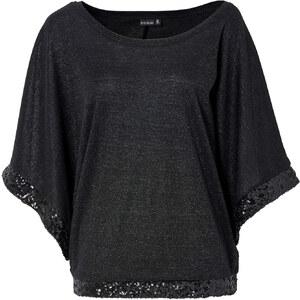 BODYFLIRT Pullover in schwarz (Rundhals) für Damen von bonprix